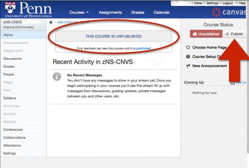 Screen shot; Publish your site