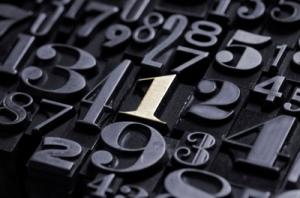 Numbers representing analytics