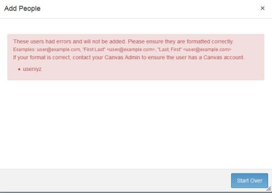 Adding-user error message