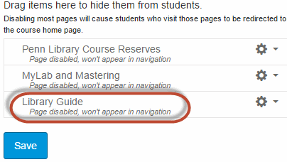"""Library Guide"" button circled in red for emphasis."