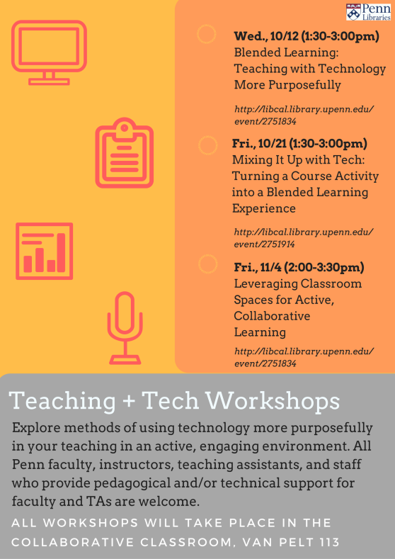 Teaching +Tech Workshop Flyer