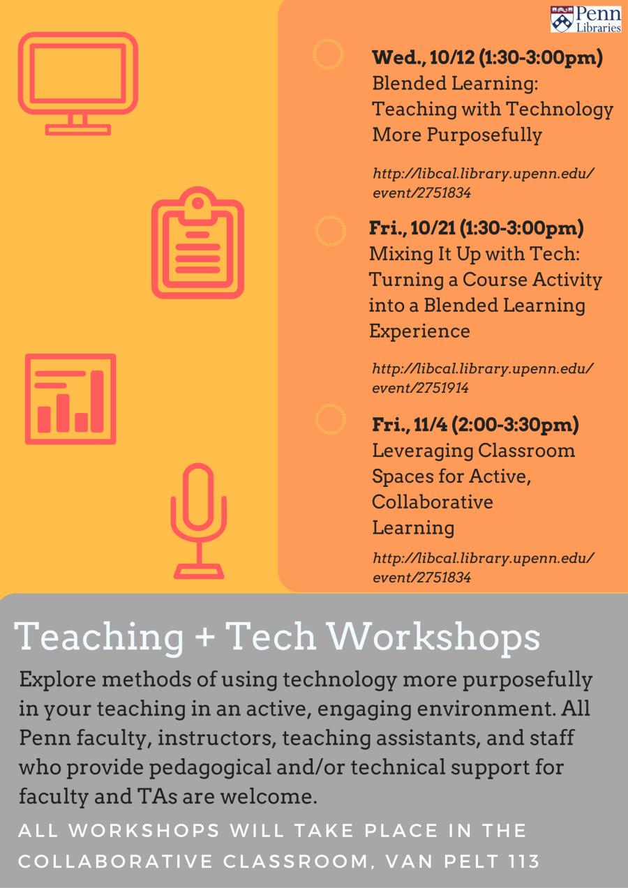 Teaching +Tech Workshop Flyer