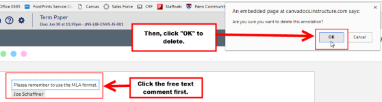 An example of how to delete a FreeText Annotation.